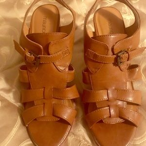 Maurice's strappy faux leather heels.